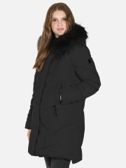 Coated A-shaped Jacket - Black